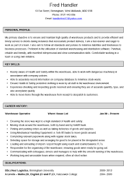 Warehouse Operative CV Example and Template