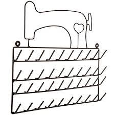 black wire sewing machine thread rack