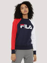 fila hoodie women s. buy boyfriend logo sweatshirt for women - women\u0027s peacoat sweatshirts online in india fila hoodie s koovs