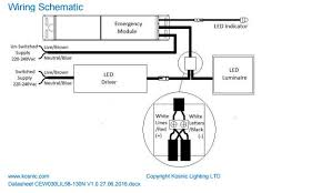 universal emergency module for led luminaires kosnic wiring diagram
