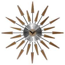 beam vintage style sunburst wall clock