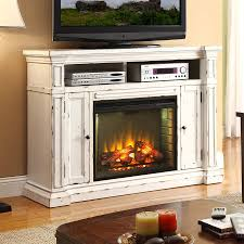 legends furniture 58 in w rustic white fan forced electric fireplace