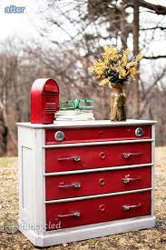 this piece in and of itself didn t do anything for me but i love the idea of using junked car door handles as dresser hardware