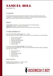 Microsoft Resume Templates 2018 Gorgeous RESUME FORMAT 48 48 Latest Templates In WORD