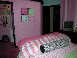 ... Cool Ideas For Interior Decorating Teenage Girl Bedroom Designs : Top  Notch Pink Wall Painting Room ...