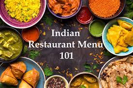 guide to an indian restaurant menu