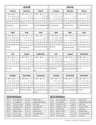 two year calender template 1 pdf template for two year calendar 2017 2018 in blue red