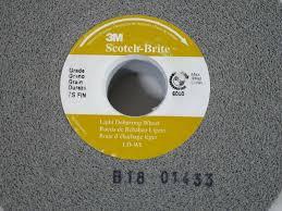 3m Scotch Brite Light Deburring Wheel 3m Scotch Brite 7s Fin Light Deburring Wheel 01661 6x1x1 New