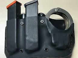 Magazine And Handcuff Holder Unique FITS GLOCK 3232MM Double Mag And Handcuff Pouch 3232 PicClick