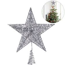 Nicexmas Weihnachtsbaum Topper Stern Weihnachtsbaum Dekoration Exquisite Shimmery Star Treetop Dekor 25cm