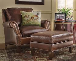 Leather Chair and Ottoman Set - The Most Comfortable Leather Chair -- Orvis  on Orvis