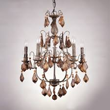 antique crystal chandeliers for rustic 6 light wrought iron