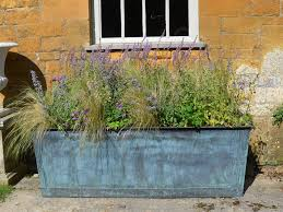 large rectangular planters  gardens and landscapings decoration