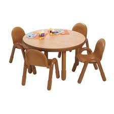 preschool table and chair set. Delighful Chair AB74912NW BaseLine Toddler Table U0026 4 Chair Sets  Natural With Preschool And Set Daycare Furniture Direct