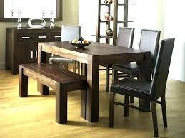 kitchen decoration rustic dining set with bench table und awesome black brilliant tables