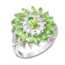 <b>Peridot</b> Inferno Silver Ring | Danbury Mint