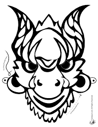 Small Picture Chinese New Year Printables Masks Dragons and Coloring Pages
