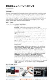 Freelance Writer Resume Objective Best Of Freelance Writereditor Resume Example Work Ideas Pinterest