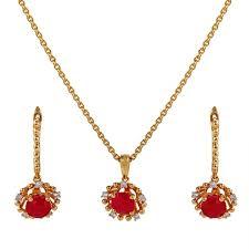 pendant sophistic ruby pendant diamond set from vaibhav jewellers