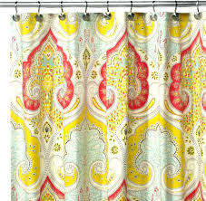yellow shower curtains yellow patterned shower curtains