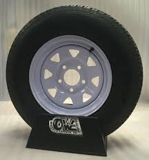 Trailer Rim Size Chart New15 Inch 5 On 5 White Spoke Trailer Wheel Mounted With St205 75 D15 Bias Ply Tire
