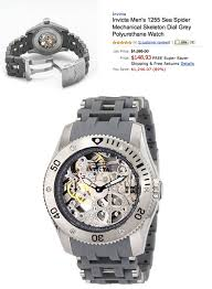 deal of the day 1395 invicta men s 1255 sea spider mechanical deal of the day 1395 invicta men s 1255 sea spider mechanical skeleton watch for 148 93 shipped