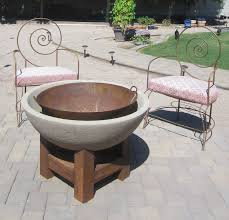 design unthinkable cement fire pit ink rust and sawdust d i y f ire when we were laying the