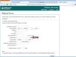 fake refund form