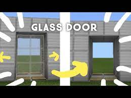 minecraft working sliding glass door