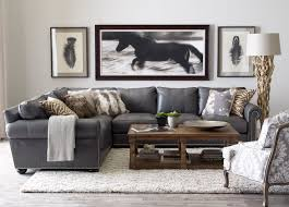 Living Room Furniture Ethan Allen Richmond Leather Sectional Ethan Allen