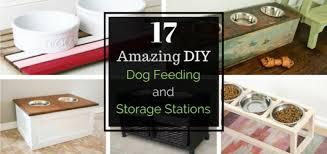 17 amazing diy dog feeding stations and