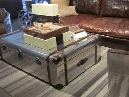 photo dazzling aluminum trunk coffee table antique diy