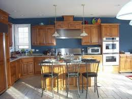 Beautiful Kitchen Color Ideas With Wood Cabinets Cool Colors Throughout