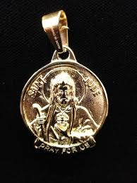 gold plated st jude pendant with 1year warranty custom made pendant aaa quality chapado en oro
