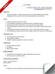 Cashier Resume Examples Beauteous Cashier Resume Sample Samples Example Template Elegant