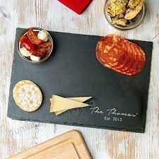 Personalized Serving Platter / Slate Cheese Board / House Warming Presents  / Wedding Anniversary Gifts For