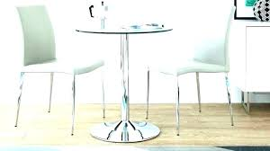 small round glass dining table and 2 chairs black set for room furniture am