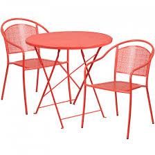 30 round c indoor outdoor steel folding patio table