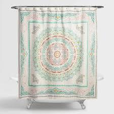 arabella medallion shower curtain world market regarding cost plus remodel 17
