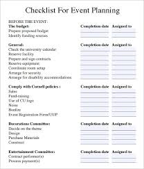Party Planning Templates Free 13 Sample Event Planning Checklists In Pdf Word