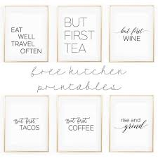 adorable kitchen wall art printables