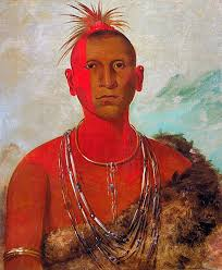náh se ús whirling thunder eldest son of black hawk sac and fox tribe by george catlin 1832 from the collection of the smithsonian american art
