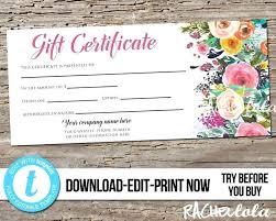 Custom Gift Certificate Templates Free Company Gift Certificate Template