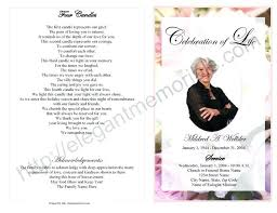 Funeral Service Templates Word Delectable Sample Funeral Program Free Memorial Service Template Word