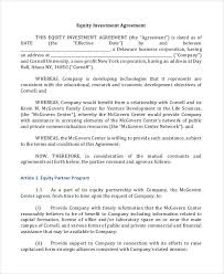 10 Investment Contract Templates Google Docs Word Sample