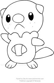 Disegno Di Oshawott Dei Pokemon Da Colorare