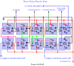 how to wire relays remote start relay diagram basic only remote start relay diagram basic only