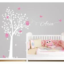 free mail owl tree wall sticker personalized name vinyl wall decals for nursery boys and girls