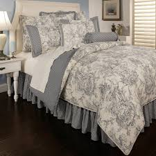 country style teen bedroom decor with grey white sherry kline toile