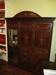 antique english marquetry inlaid solid mahogany edwardian armoire antique english mahogany armoire furniture